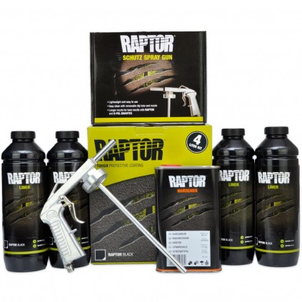 Hvit RAPTOR PAKKETILBUD 4 liters Kit inkl. vernemaske